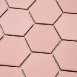 Keramická glazovaná mozaika hexagon růžová_2