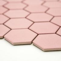 Keramická glazovaná mozaika hexagon růžová