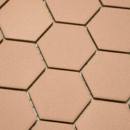 Keramická glazovaná mozaika hexagon okrová_2