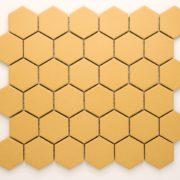 Keramická glazovaná mozaika hexagon žlutá_3