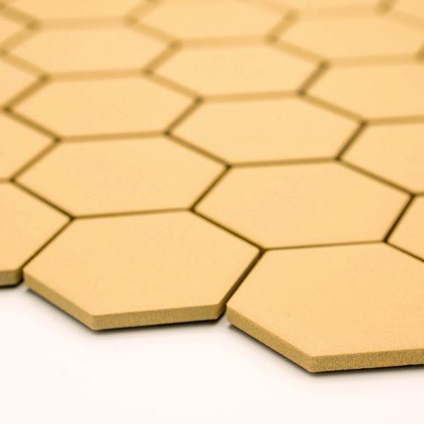 Keramická glazovaná mozaika hexagon žlutá