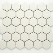 Keramická glazovaná mozaika hexagon bílá_3