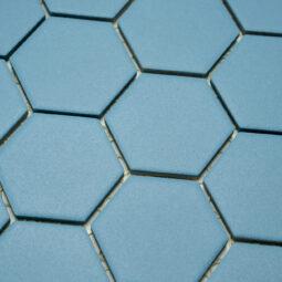 Keramická glazovaná mozaika hexagon modrá_2
