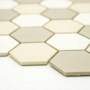 Keramická glazovaná mozaika bílý mix