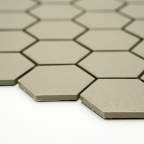 Keramická glazovaná mozaika světle šedá