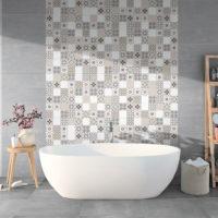 Obkad do koupelny patchwork Provence