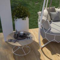 Dlažba imitace dřeva Aviona Sabbia terasa