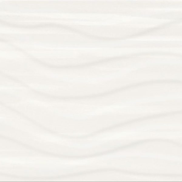 Obklad Soft Romantic White Satin Wave Structure 29,8×59,8