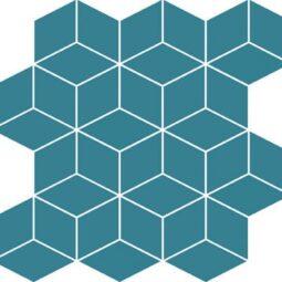 Mozaika Colour Blink Mosaic Diamond Turquoise 28x29,7