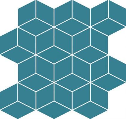 Mozaika Colour Blink Mosaic Diamond Turquoise 28×29,7