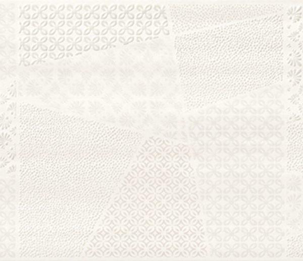 Obklad Ferano White Patchwork Inserto Satin 24×74