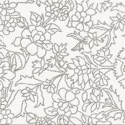 Obklad PretAPortet White inserto flower 25×75