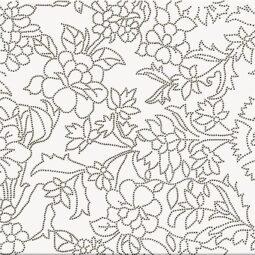 Obklad PretAPortet White inserto flower 25x75